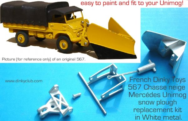 Dinky Toys 567 Mercedes Unimog Snow Plough set (Price for complete set)